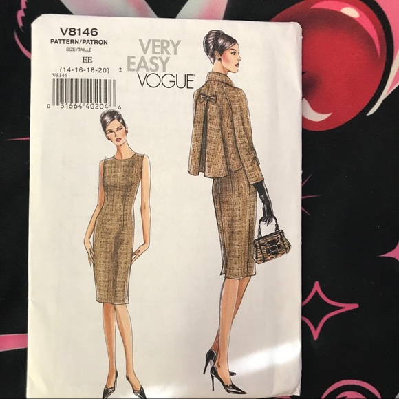 35481c4700324 Vogue Other | Sewing Patterns Dress And Jacket Pattern | Poshmark